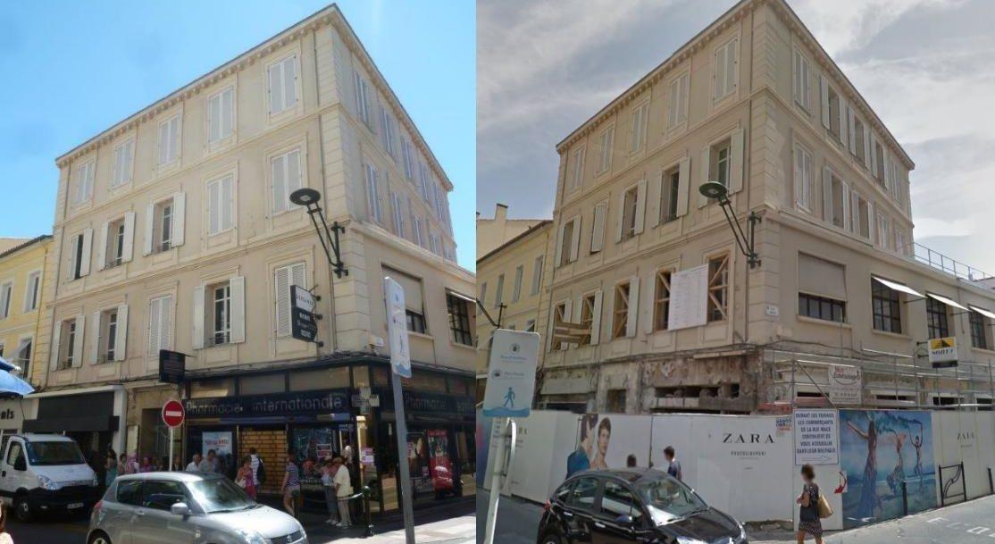 Photos du magasin Zara Cannes avant et pendant les travaux